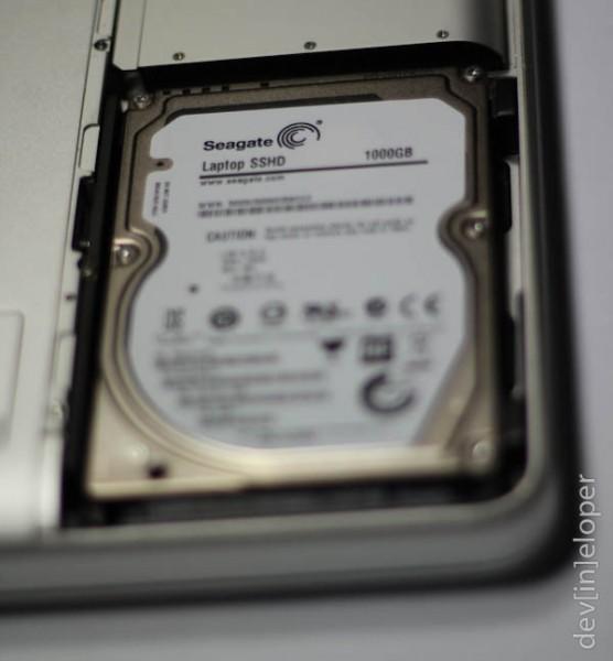 Seagate drive in Macbook Pro.