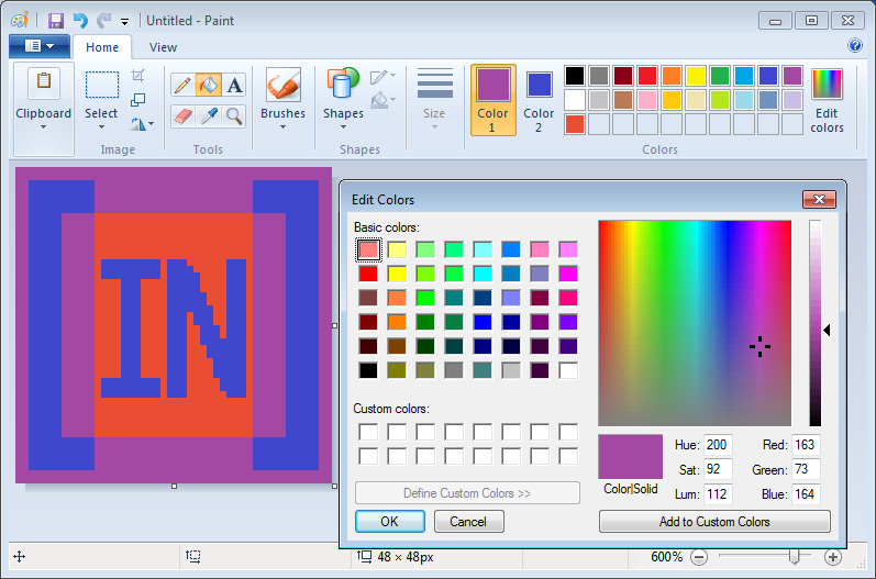 Get transparency color in Paint
