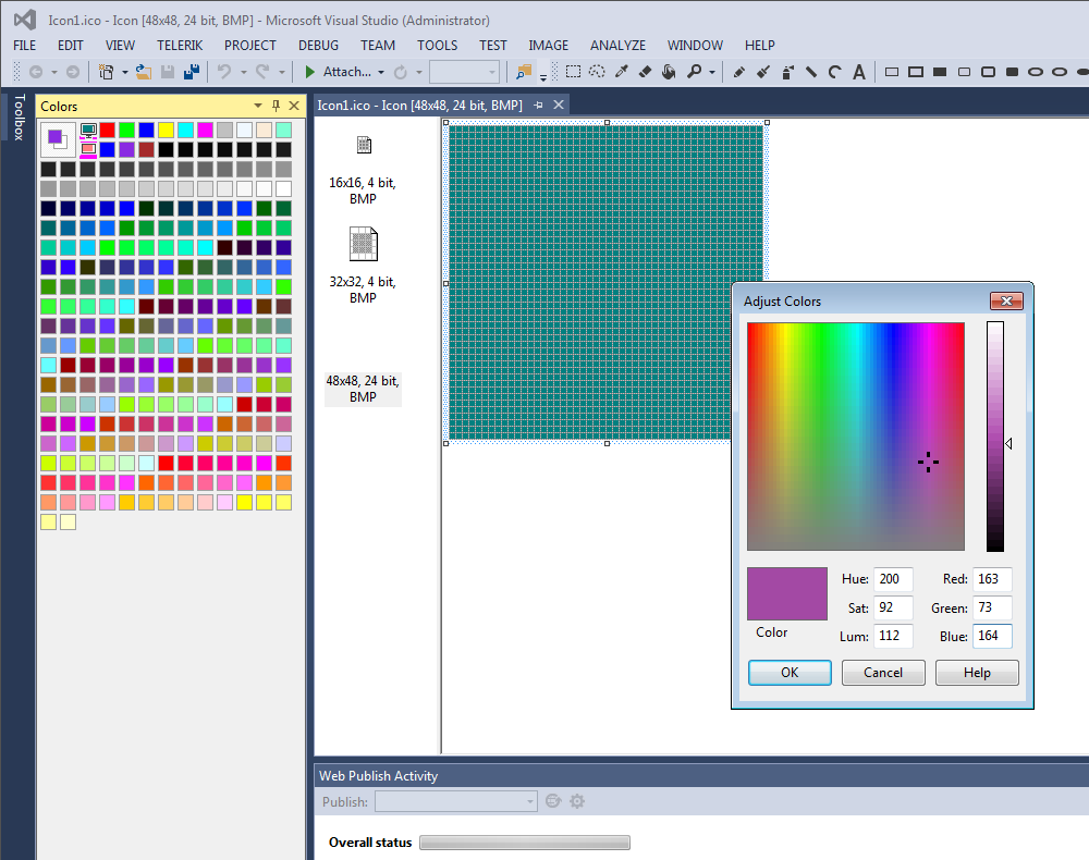 Edit color in Visual Studio 2013
