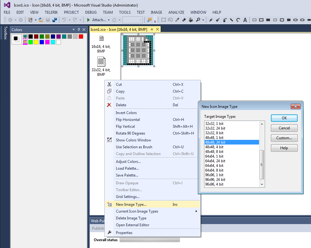 Add a new image type in Visual Studio 2013