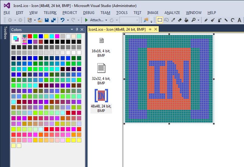 Paste your icon into Visual Studio 2013